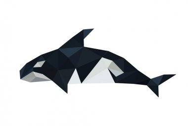 Origami orca dolphin