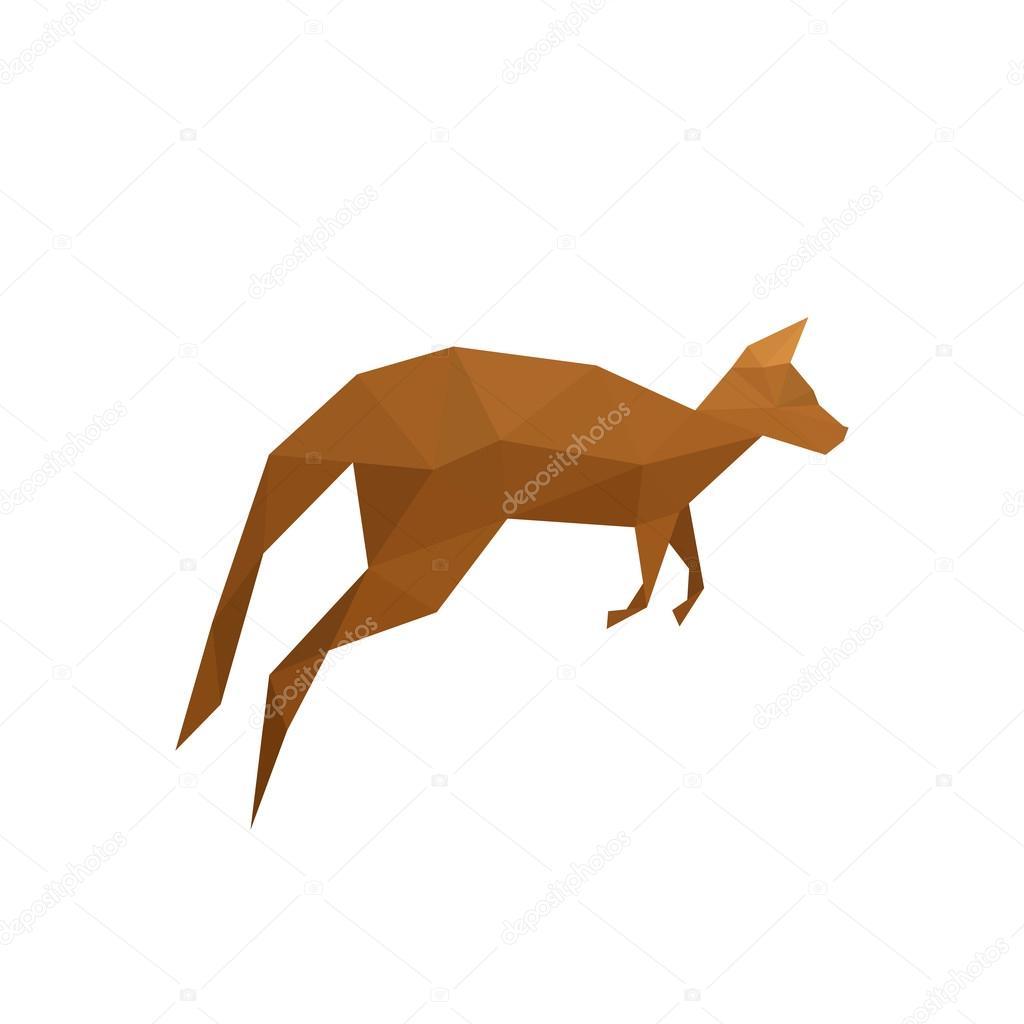 kangourou origami � image vectorielle dragoana23 169 51809527