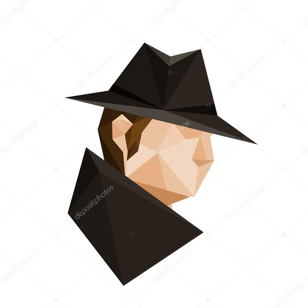 Origami Spy Character Stock Vector
