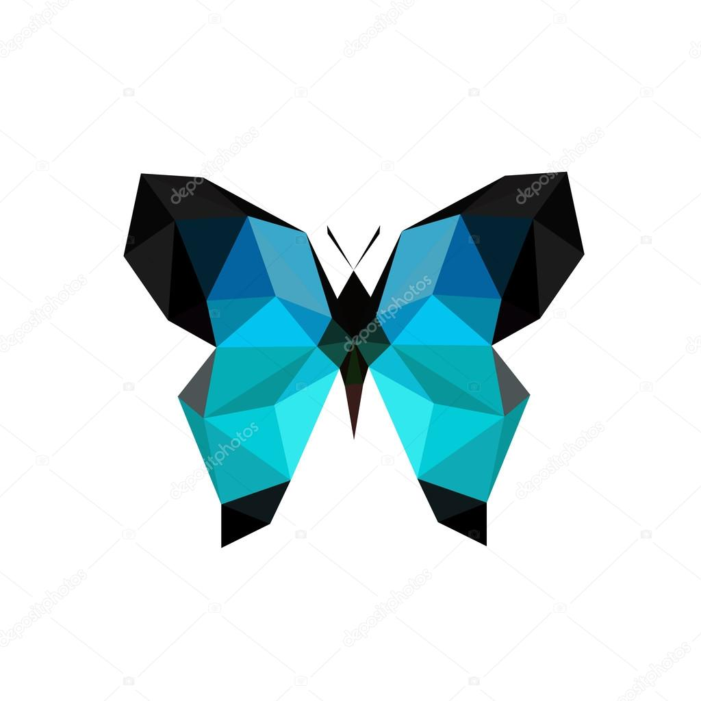 Origami blue butterfly — Stock Vector © dragoana23 #51809535 - photo#7