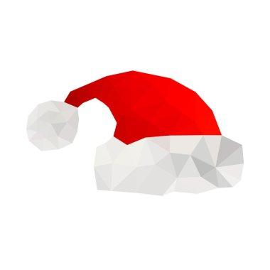 Origami santa hat