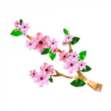 Origami cherry blossom branch