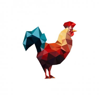One origami rooster