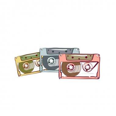 Three vintage audio cassette