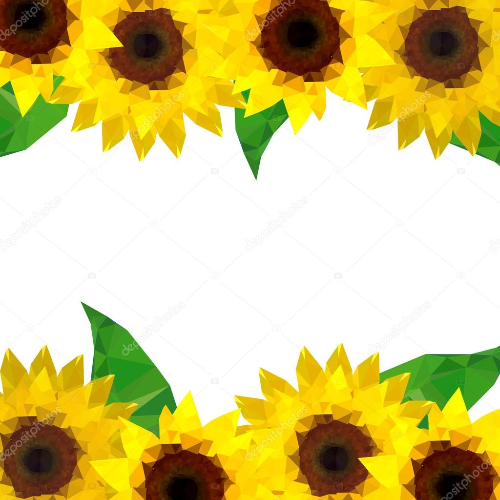 Origami sunflower background stock vector dragoana23 68318885 origami sunflower background stock vector jeuxipadfo Gallery