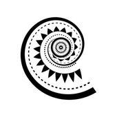 Spirale tatuaggio stile Maori