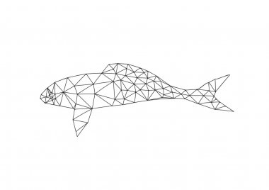 Origami fish outline