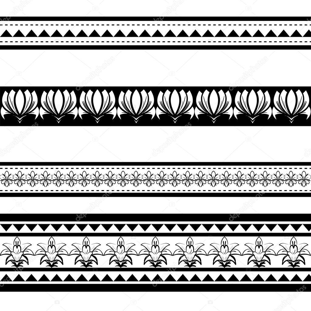 Bracelet Polynésien Tatouage se rapportant à bracelet polynésien — image vectorielle #70143333