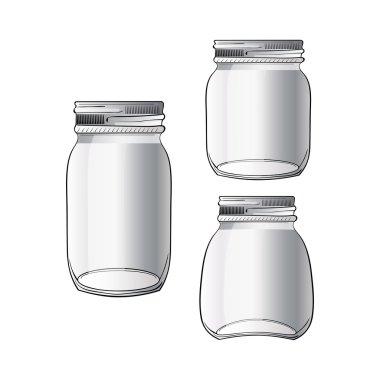 tree different doodle jars