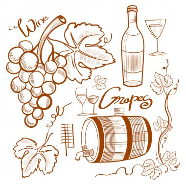 doodle wine set