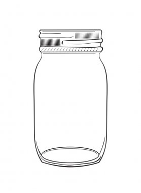 Hand drawn doodle jar