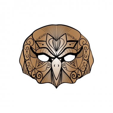 tribal brown owl bird