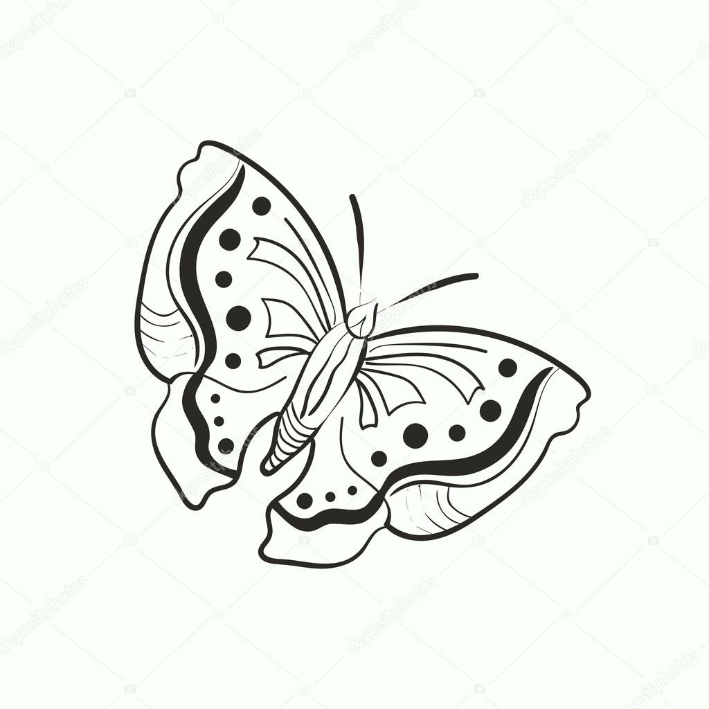 mariposa para colorear libro — Vector de stock © dragoana23 #72683155
