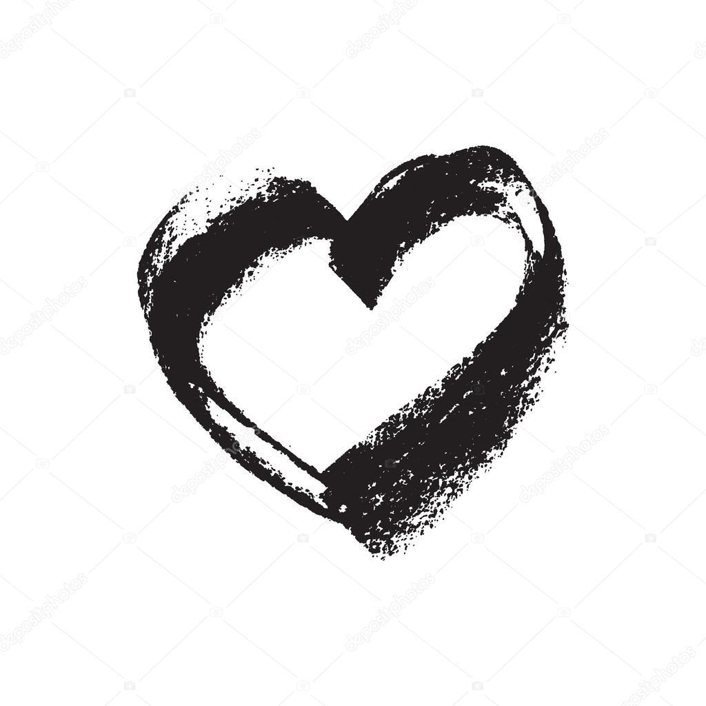 chalk texture, heart shape