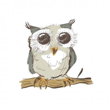 cute doodle owl