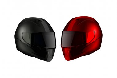 Realistic Detailed Motorcycle Helmets