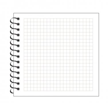 Blank spiral notepad paper