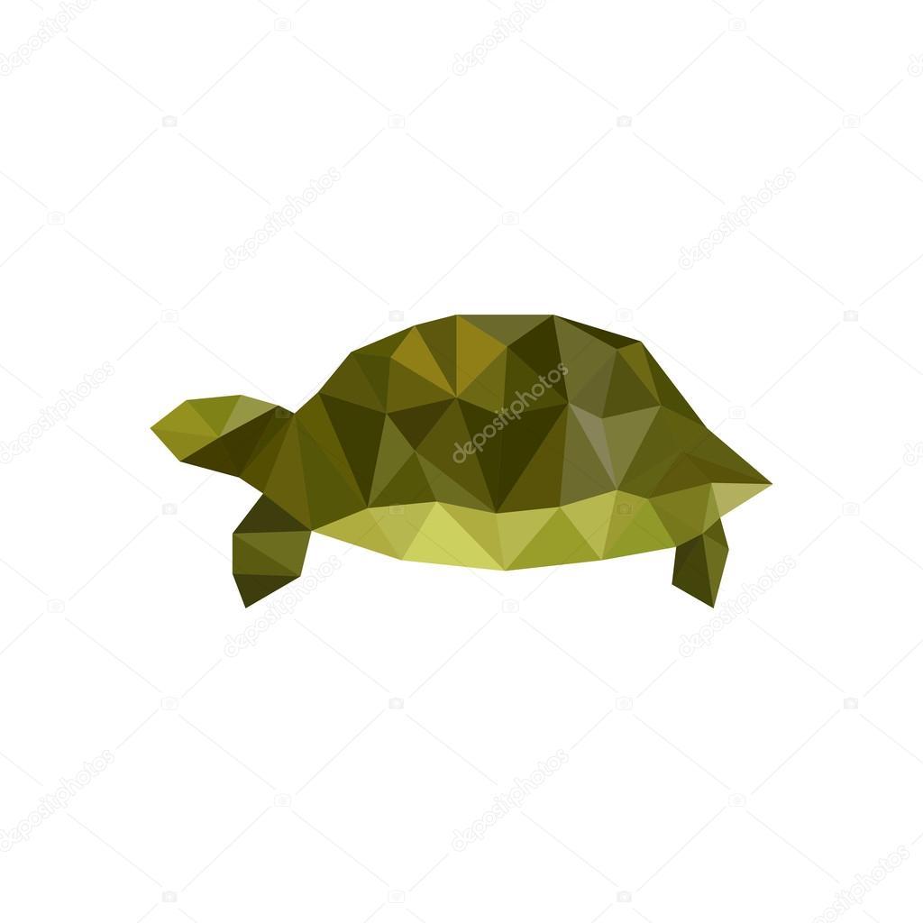 Green origami turtle stock vector dragoana23 78137704 green origami turtle stock vector jeuxipadfo Image collections