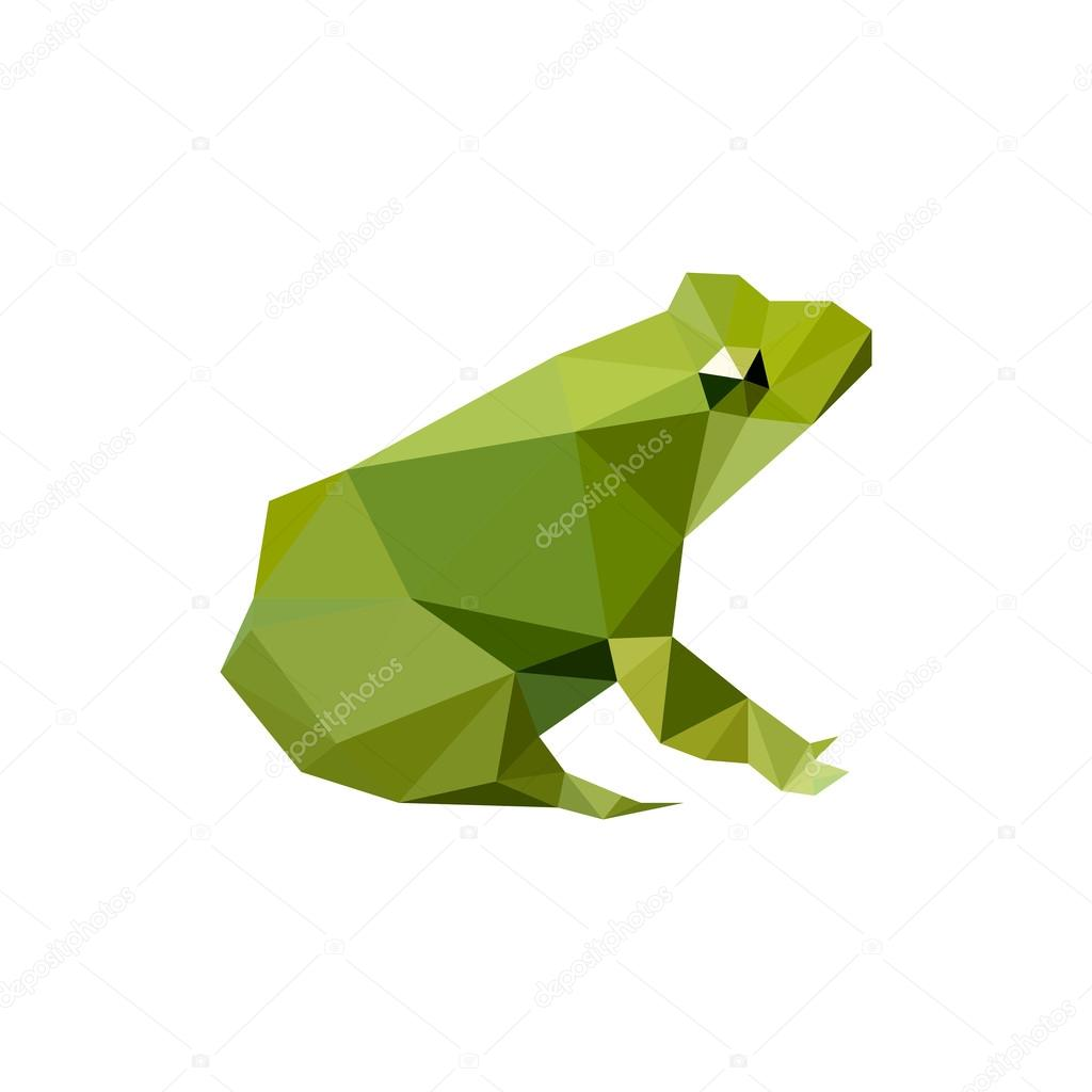 Design with origami frog