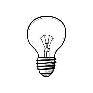 Doodle style light bulb