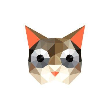 Funny origami cat