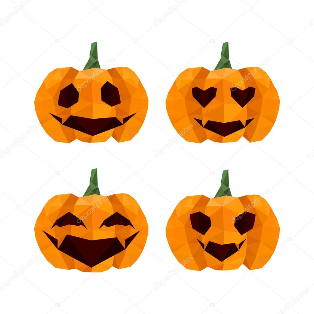 Halloween origami pumpkins emoticons stock vector dragoana23 halloween origami pumpkins emoticons stock vector jeuxipadfo Gallery