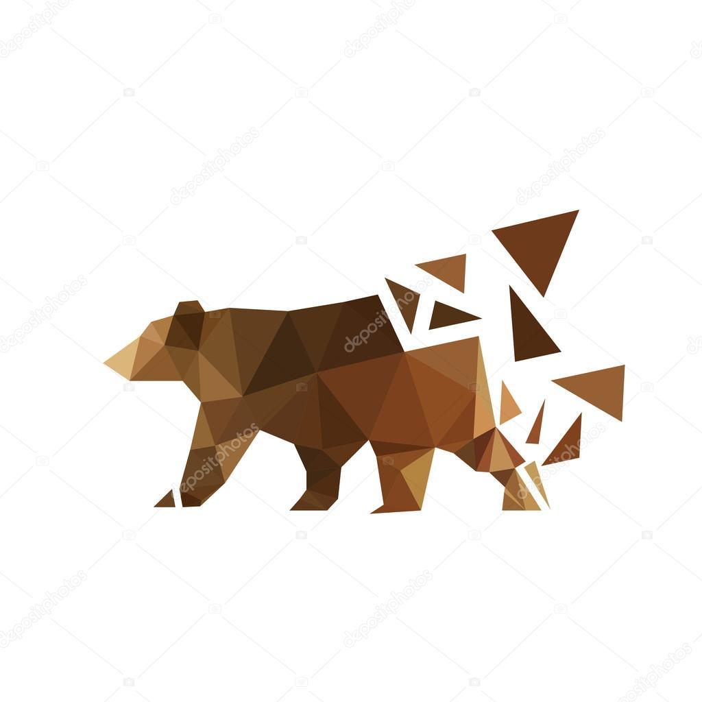 Origami bear animal