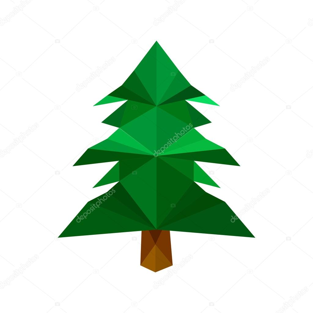 green origami pine tree stock vector dragoana23 87590072 rh depositphotos com vector pine tree shape vector pine tree shape