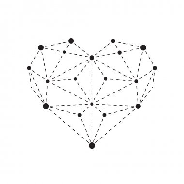 Polygonal heart outline
