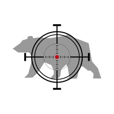 Bear hunting. Crosshair target