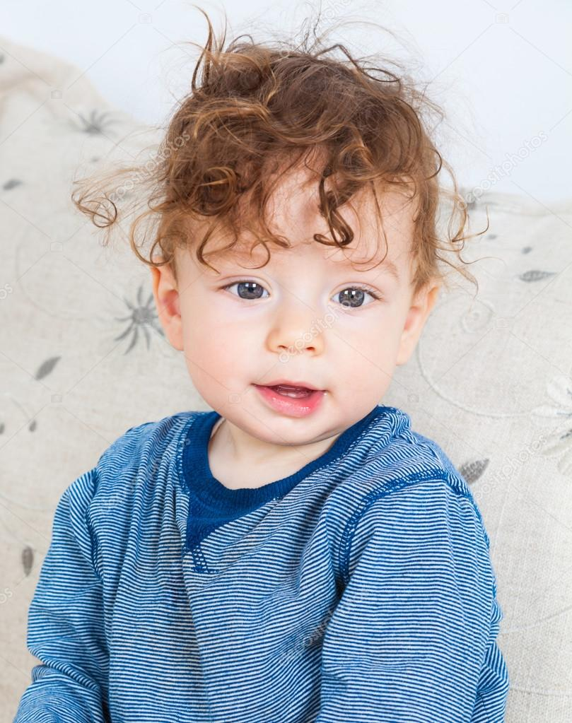 baby boy with curly hair � stock photo 169 igabriela 82477012