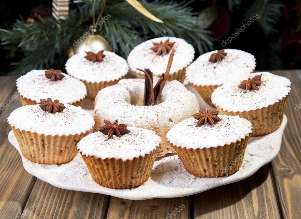Traditionelle Obst Kuchen Weihnachten Hintergrund Stockfoto