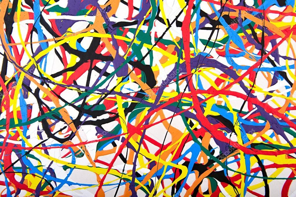 abstracte acryl moderne schilderkunst fragment stockfoto