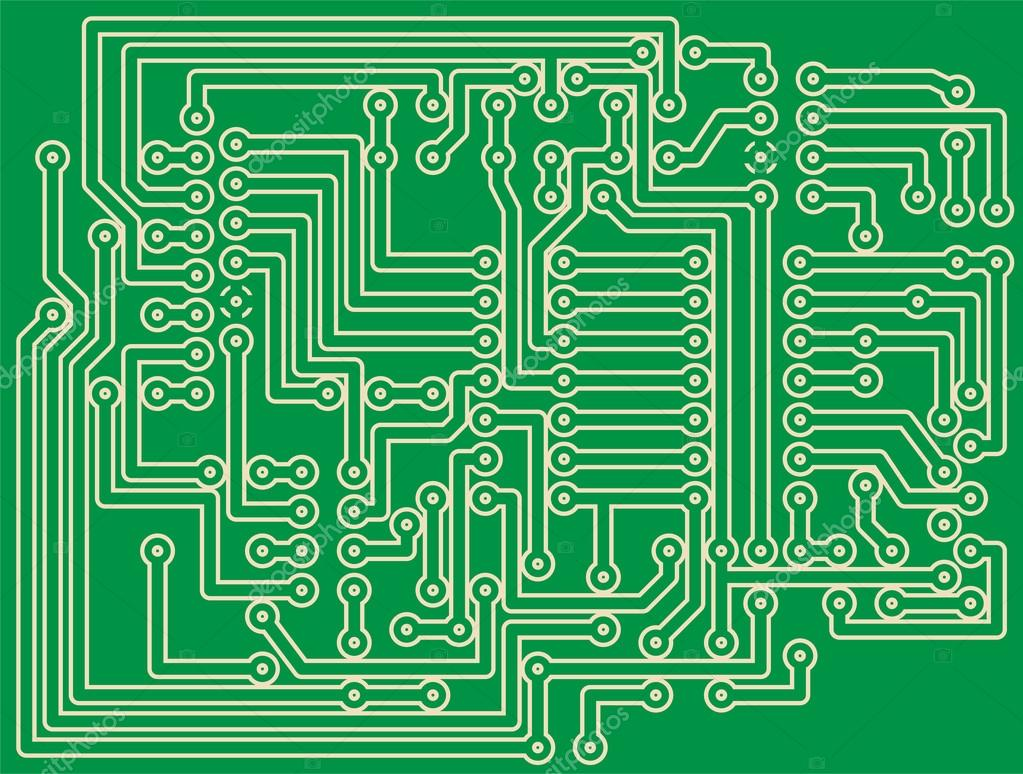Printed Circuit Board Stock Vector Alexciopata 65814817 Of Illustration A Green By