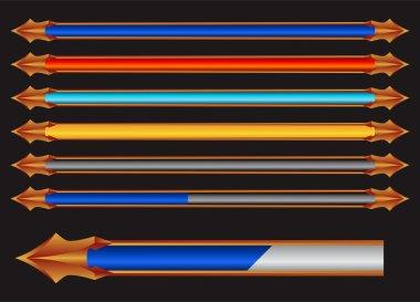 Colorful progress bar vector pack clip art vector