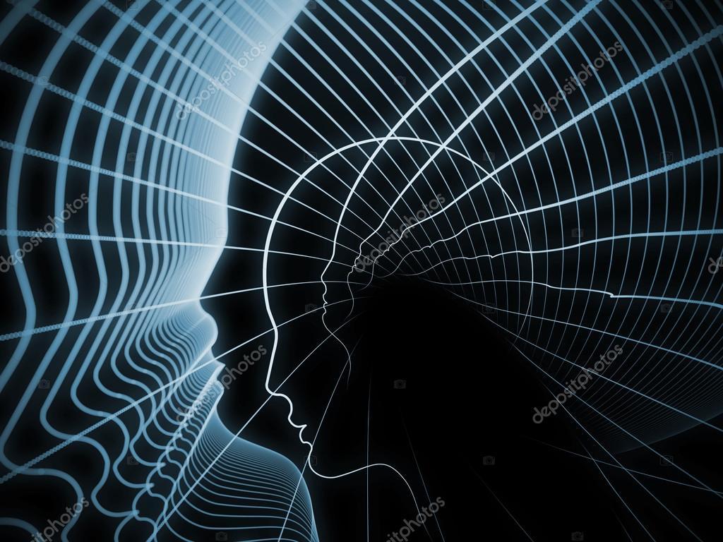 Γεωμετρία του σειρά soul. σύνθεση των γραμμών του προφίλ του ανθρώπινο  κεφάλι σχετικά με το θέμα της εκπαίδευσης a3dd9c0d8ff