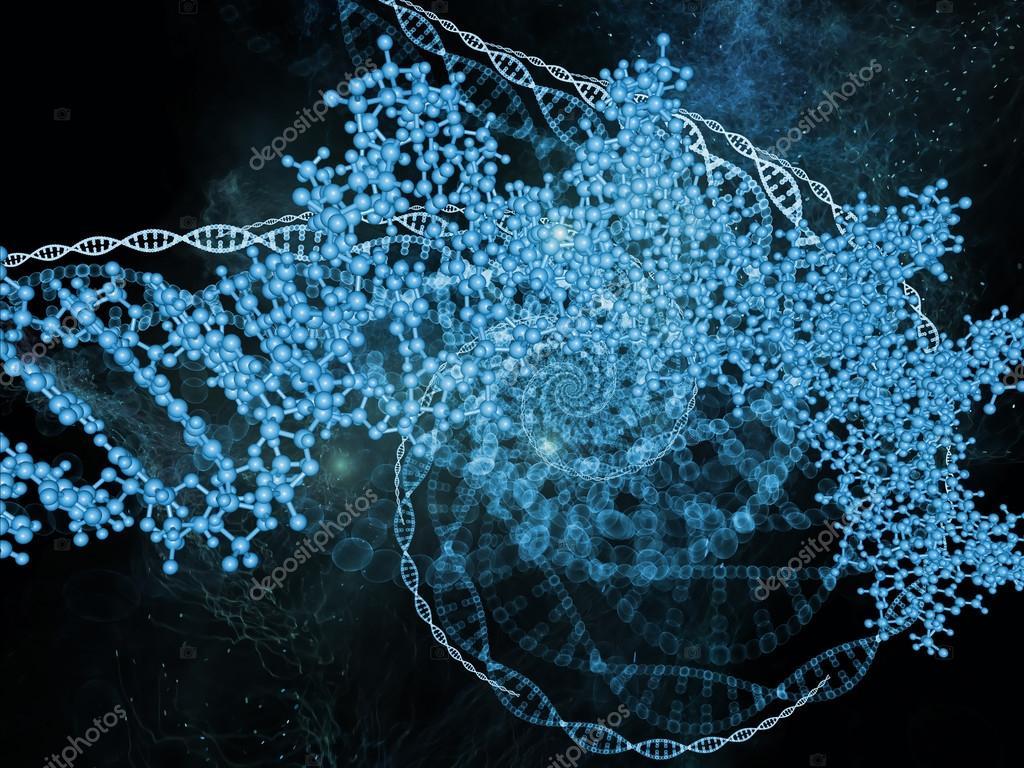 Fondo De Moléculas Orgánicas