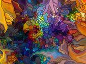 Vyvíjející se barevné sklo