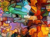 Vizualizace digitálního barevného skla