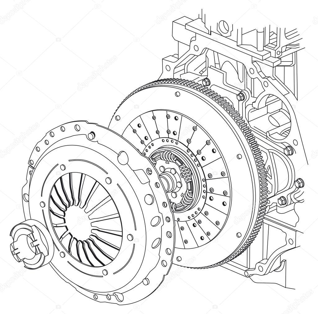 Auto-Kupplung-Schema — Stockfoto © eugeniy #101930516