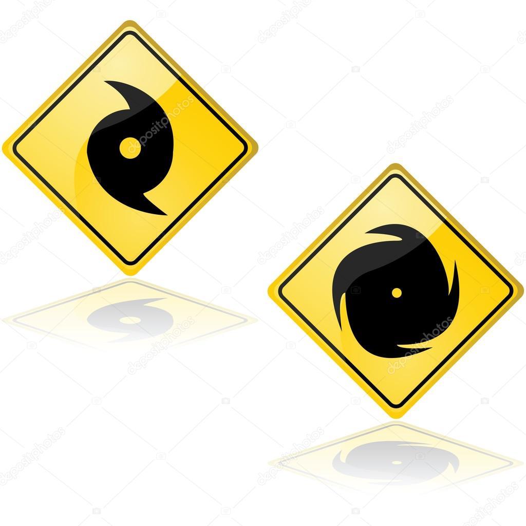 Hurricane signs