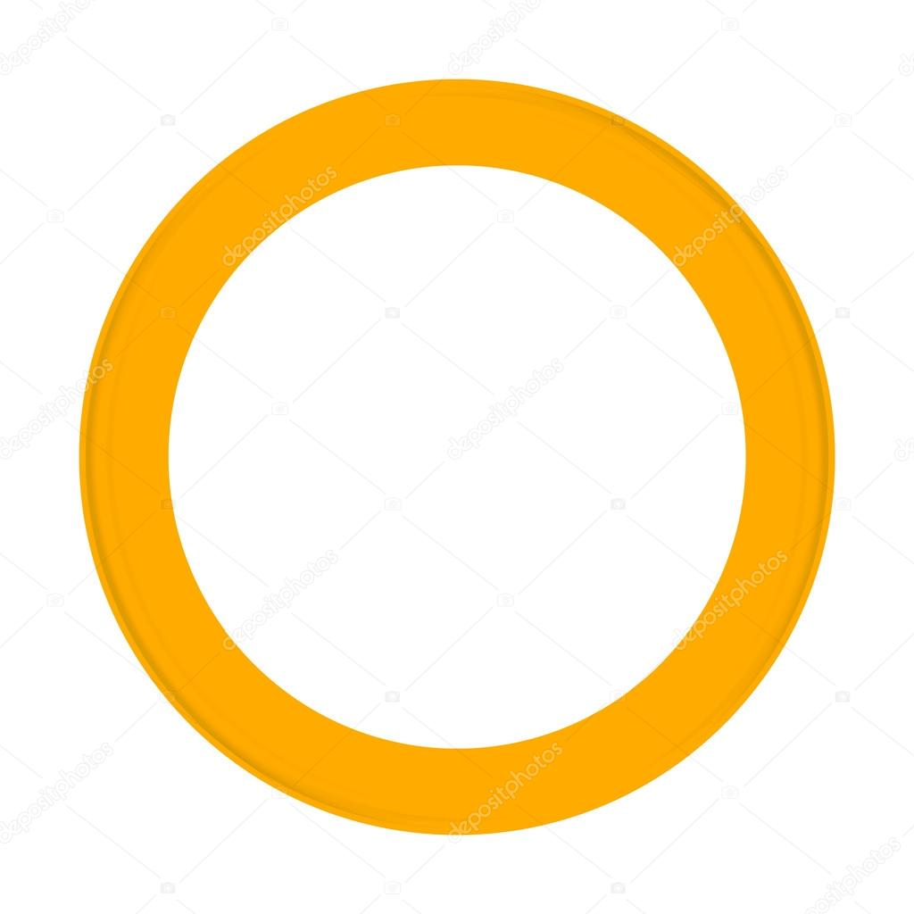 Frames and Borders - Yellow round frame for photos — Stock Photo ...