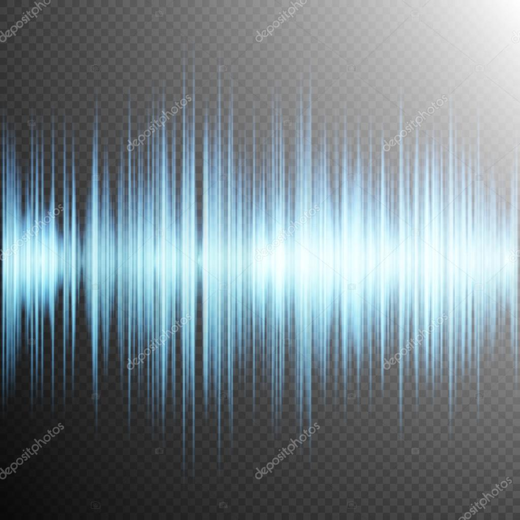 sound wave on transparent background eps 10 u2014 stock vector
