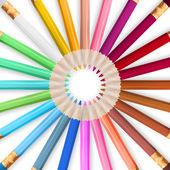 Rám s barevné tužky. EPS 10