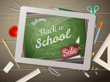 Tablet back to school Sale. EPS 10