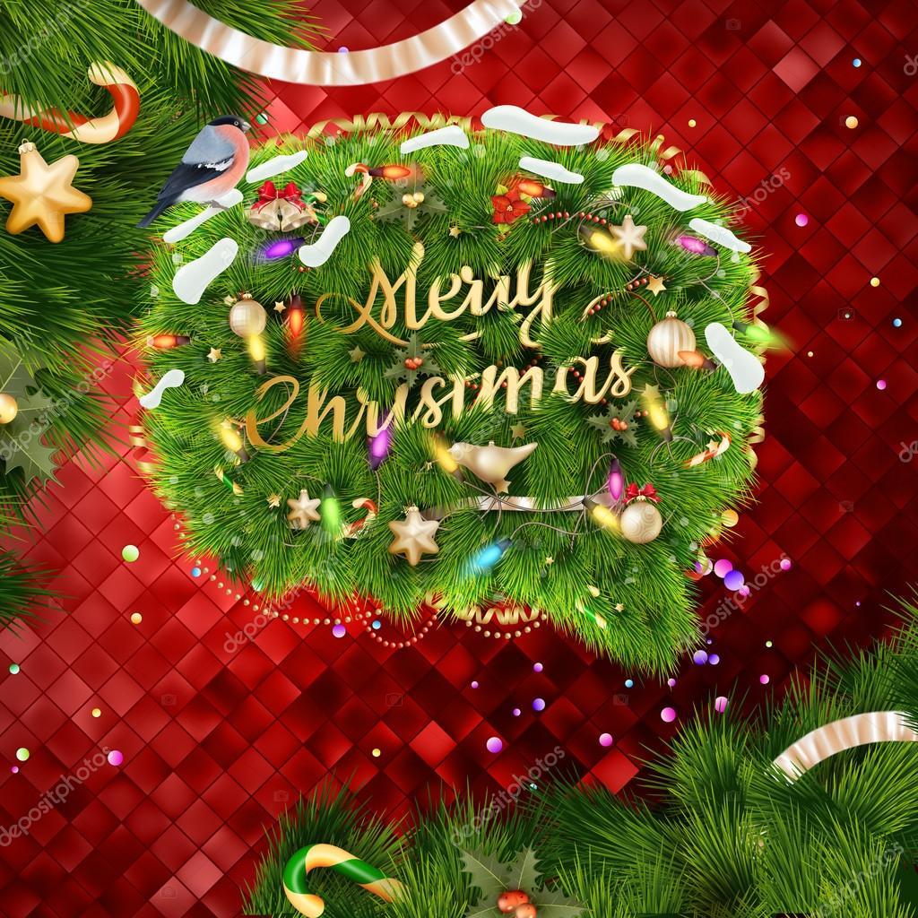 Plantilla Navidad. 10 EPS — Archivo Imágenes Vectoriales ...