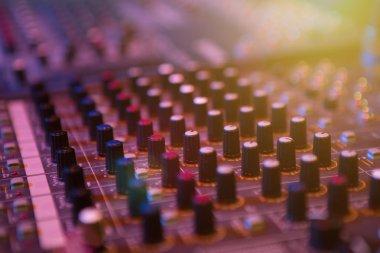 Professional console in recording studio