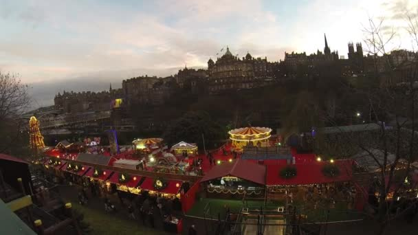 Vánoce v Edinburghu, Skotsko, hd záběry