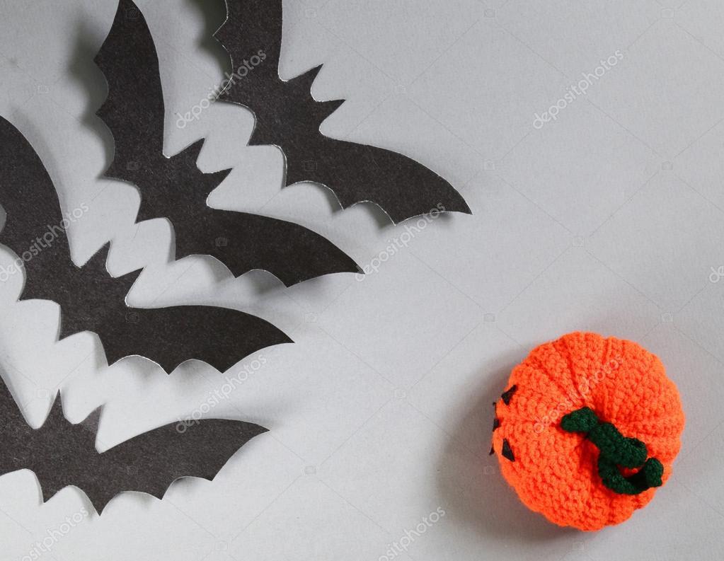 Papieru Origami Nietoperzy Na Szarym Tle Dekoracje Na