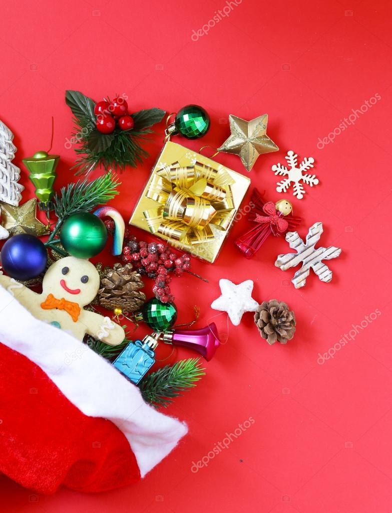 Weihnachten set - Dekoration, Geschenke, Süßigkeiten, Lebkuchen auf ...